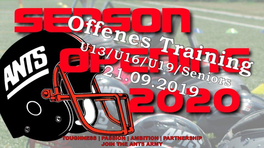 Season Opening 2020 Banner